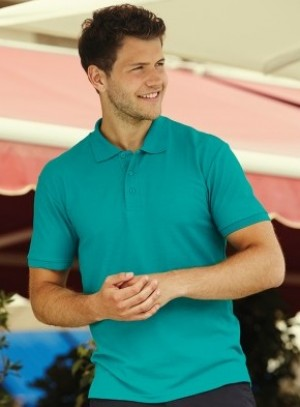 Fruit of the Loom Poly/Cotton Pique Polo Shirt Free Delivery on orders over £100 (15 colours available)