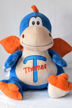 ****SORRY OUT OF STOCK****Cubbie Blue Dragon with embroidered message & Free Delivery