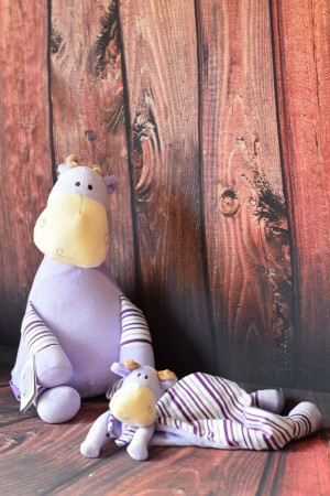 Cubbie Lavender Pastel Giraffe & Snuggle Buddy with embroidered message & Free Delivery