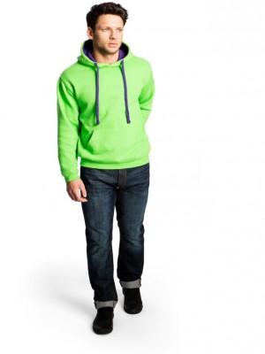 model ver contrast hoodie
