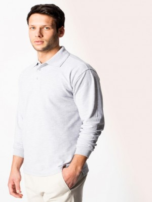 model ver long sleeve polo