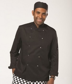 Dennys London Long Sleeve Press Stud Chef's Jacket Free delivery on orders over £100