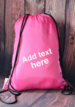 Personalised bagbase gym bag with free shipping