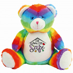 Rainbow Bear Stay Home Stay Safe  Free Delivery